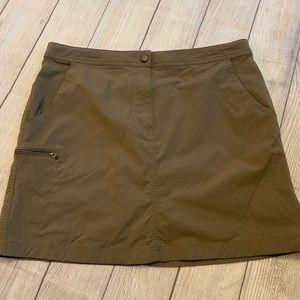 L.L. Bean Army Green Skort Size 14